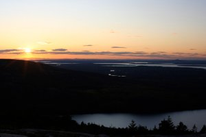 Sonnenuntergang am Cadillac Mountain