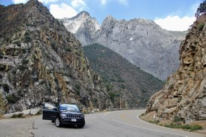 Auf der 180 im Kings Canyon Nationalpark