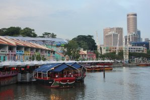 Clarke Quay am Singapore River